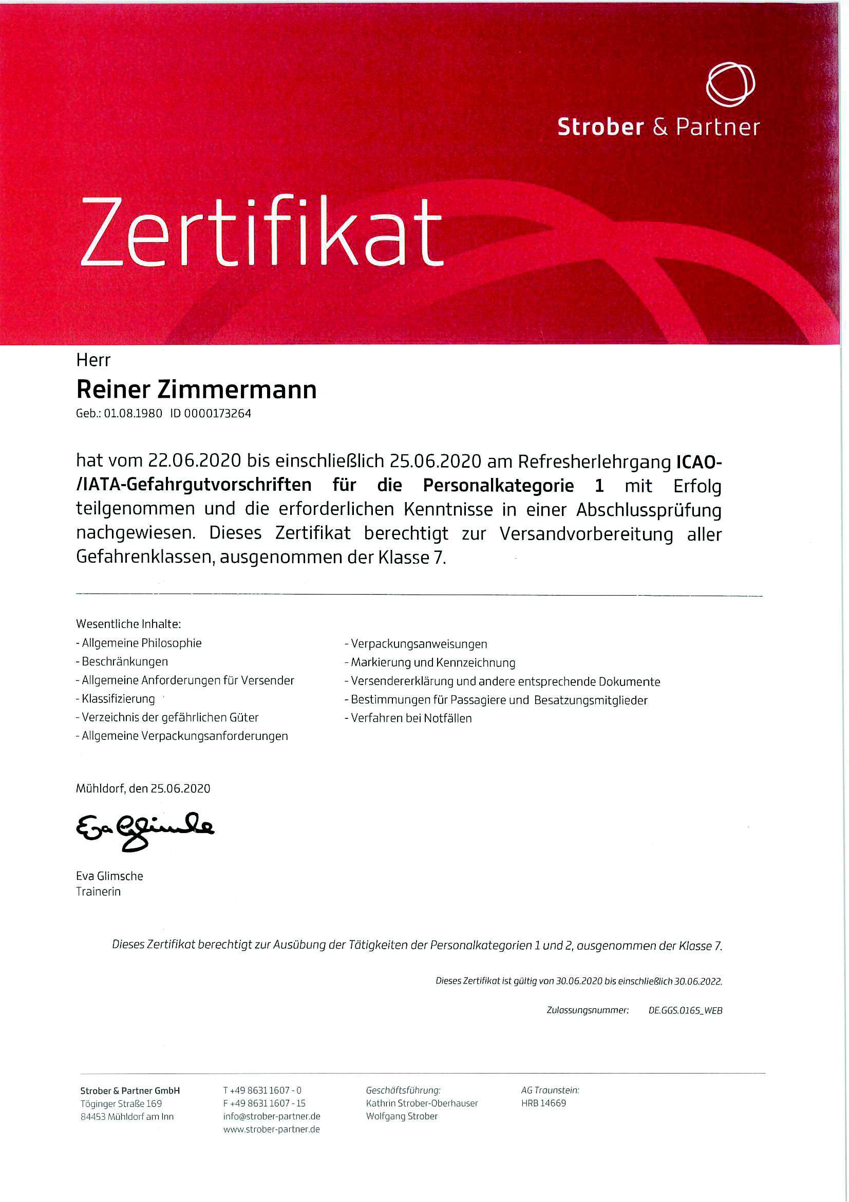 Gefahrgut Reiner Zimmermann